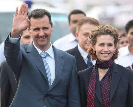 Bashar al-Assad et sa femme Asma
