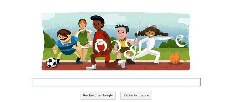 Google se met à l'heure olympique