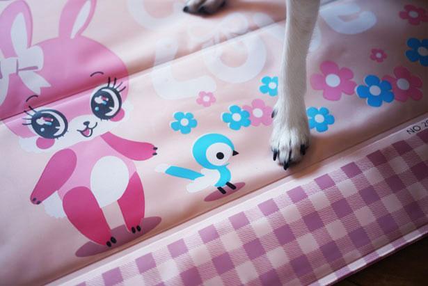 Le tapis rafraîchissant cute pour chiens