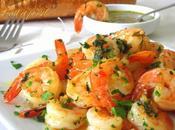 Crevettes sautées l'ail persil
