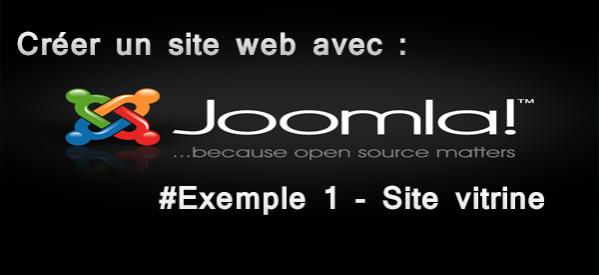 cr u00e9er un site web avec joomla  2 5  u2013  exemple 1  u2013 site vitrine
