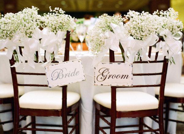 Une d coration de mariage chic et d contract e paperblog - Garniture de table pour mariage ...