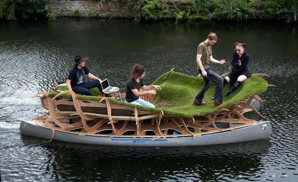 attraction touristique floating forest à Londres pour les jeux olymoiques 2012