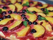 Pizza sucrée nectarines myrtilles