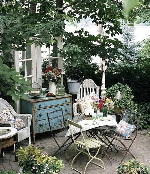D co jardin esprit brocante for Piccoli disegni casa cottage