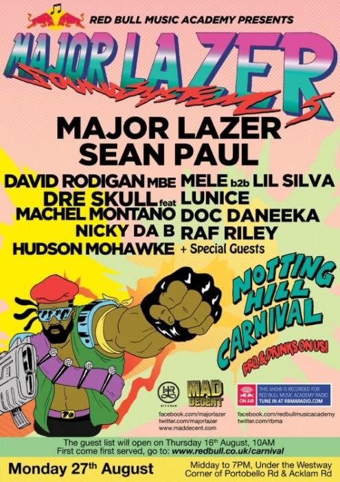 Major Lazer – Carnival 2012 Mix