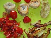 Poulet harissa creme d'ail tomates confites