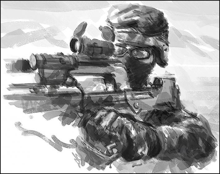 Clin d 39 oeil de theatrum belli tous nos militaires en opex paperblog - Dessin de soldat ...