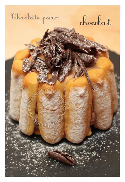 Charlotte poires chocolat paperblog - Peut on congeler des poires ...