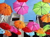 Auvent parapluies colorés Portugal