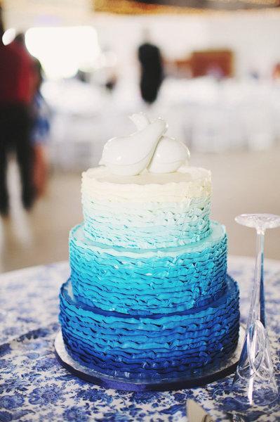 Decoration de mariage bleu roi