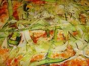 Pizza courgette mozzarella romarin