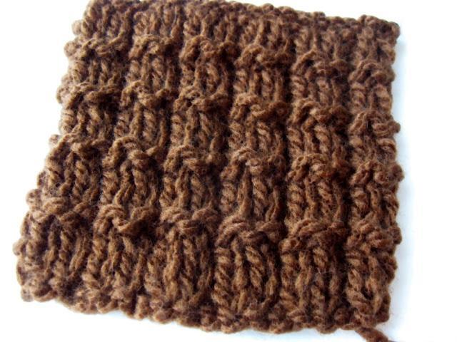 Point facile au tricot le point gaufrette paperblog - Point tricot facile joli ...