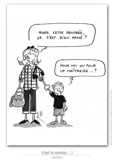 La rentr e pour les profs en dessins par jack koch - La rentree des mamans ...