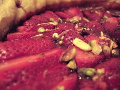 Tarte fine aux fraises et au vinaigre balsamique