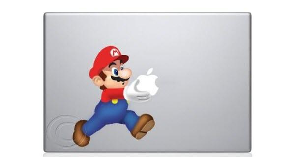 mario carrying apple