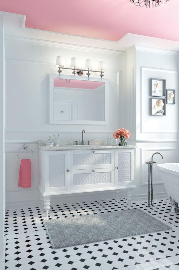 Salle De Bain Noir Et Rose: Id?e salle de bain d?corer la en rose ...