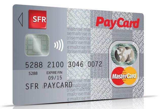sfr paycard la carte de paiement paypass sans contact par sfr paperblog. Black Bedroom Furniture Sets. Home Design Ideas