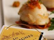 {jeu-concours} Champagne cuisine Saint-Jacques oranges abricots secs caramélisés gingembre, concassé pistaches.