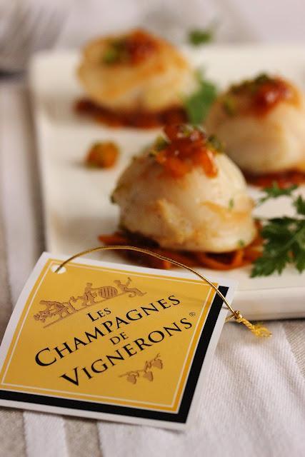 Jeu concours champagne en cuisine saint jacques aux for Jeu concours cuisine