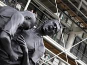 coup tête Zinedine Zidane, statue d'Adel Abdessemed Sculpture