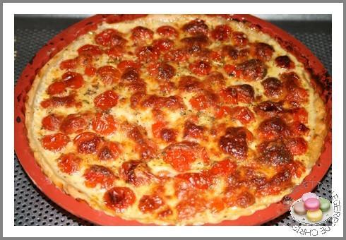 Tarte tomates cerises et mozzarella paperblog - Faire pousser tomate cerise ...