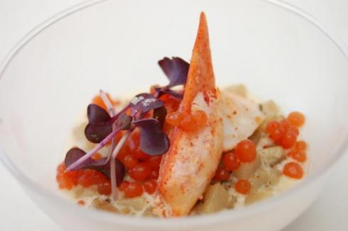 Les étoiles de Mougins 2012, demi homard canadien à la façon de Serge Gouloumès