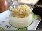 Panna cotta vanillée petits pommes caramélisés