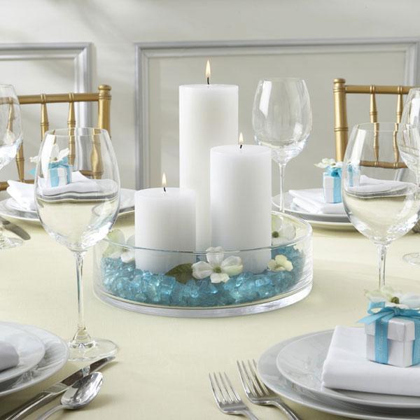 10 centres de table de mariage originaux paperblog - Bougie centre de table mariage ...