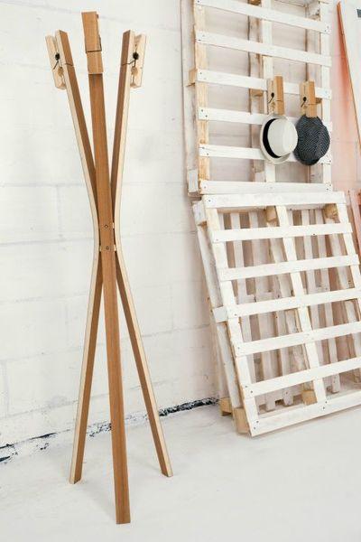 porte manteau clothes pin by leitmotiv paperblog. Black Bedroom Furniture Sets. Home Design Ideas