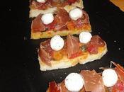 Bruschetta tartare tomate chevre jambon bayonne