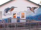 Murale Gaspésie, street voyage