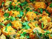 Tajine boulettes poisson champignons courgette