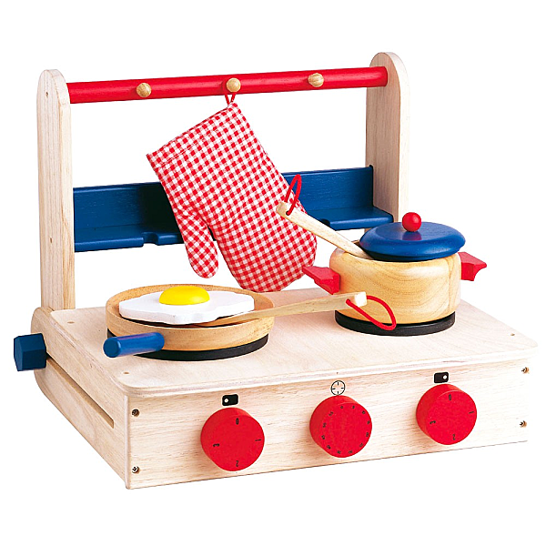 Une cuisini re en bois pour enfant r aliste et peu encombrante paperblog for Cuisine bois jouet