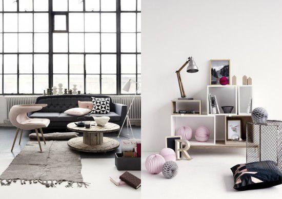un peu de rose poudr dans ce monde de gris paperblog. Black Bedroom Furniture Sets. Home Design Ideas