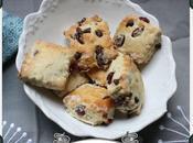 Mini scones cranberries séchées pépites chocolat