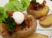 Pommes terre farcies saumon fumé
