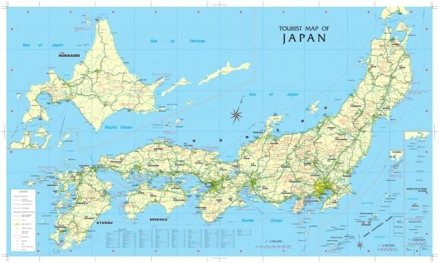 Carte détaillée du Japon » Vacances   Arts  Guides Voyages