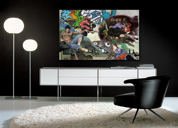 Les tableaux design sign s izoa paperblog - Tableau decoration salon pas cher ...