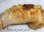 Cuisse poulet farcie crème oignons