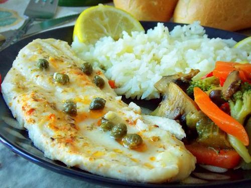 Filet de poisson au four ou sole aux l gumes saut es - Cuisiner poisson blanc ...