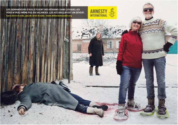 amnesty international une nouvelle campagne choc paperblog. Black Bedroom Furniture Sets. Home Design Ideas