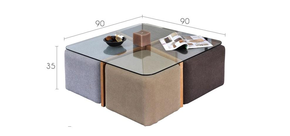 Vente priv e num ro 45 la table basse terra 4 poufs - Vente privee table basse ...