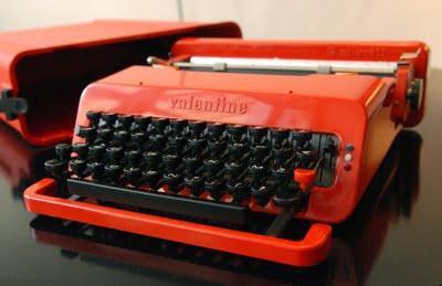 machine crire valentine pour olivetti lire. Black Bedroom Furniture Sets. Home Design Ideas