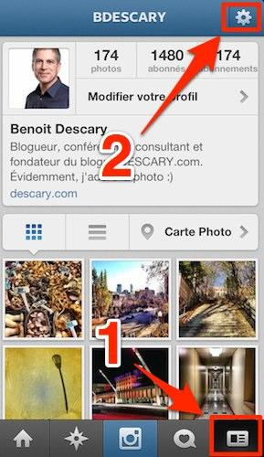 comment voir photos instagram