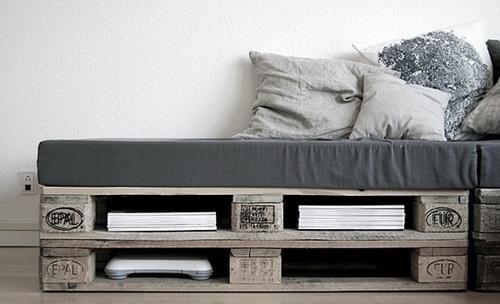 Diy fabriquer vos meubles en palette paperblog - Fabriquer banquette en palette ...