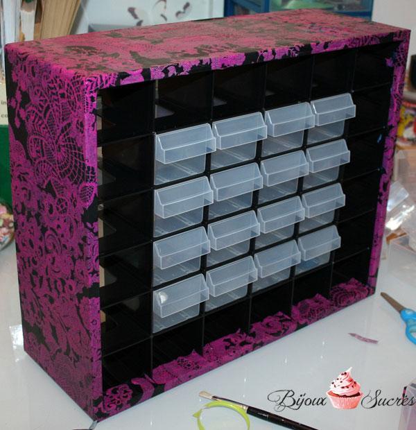 Diy customiser une boite de rangement avec d copatch paperblog - Customiser boite en carton ...