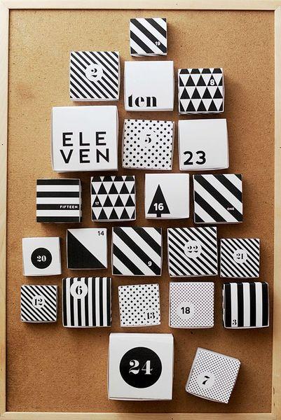 calendriers de l 39 avent fabriquer soi m me voir. Black Bedroom Furniture Sets. Home Design Ideas
