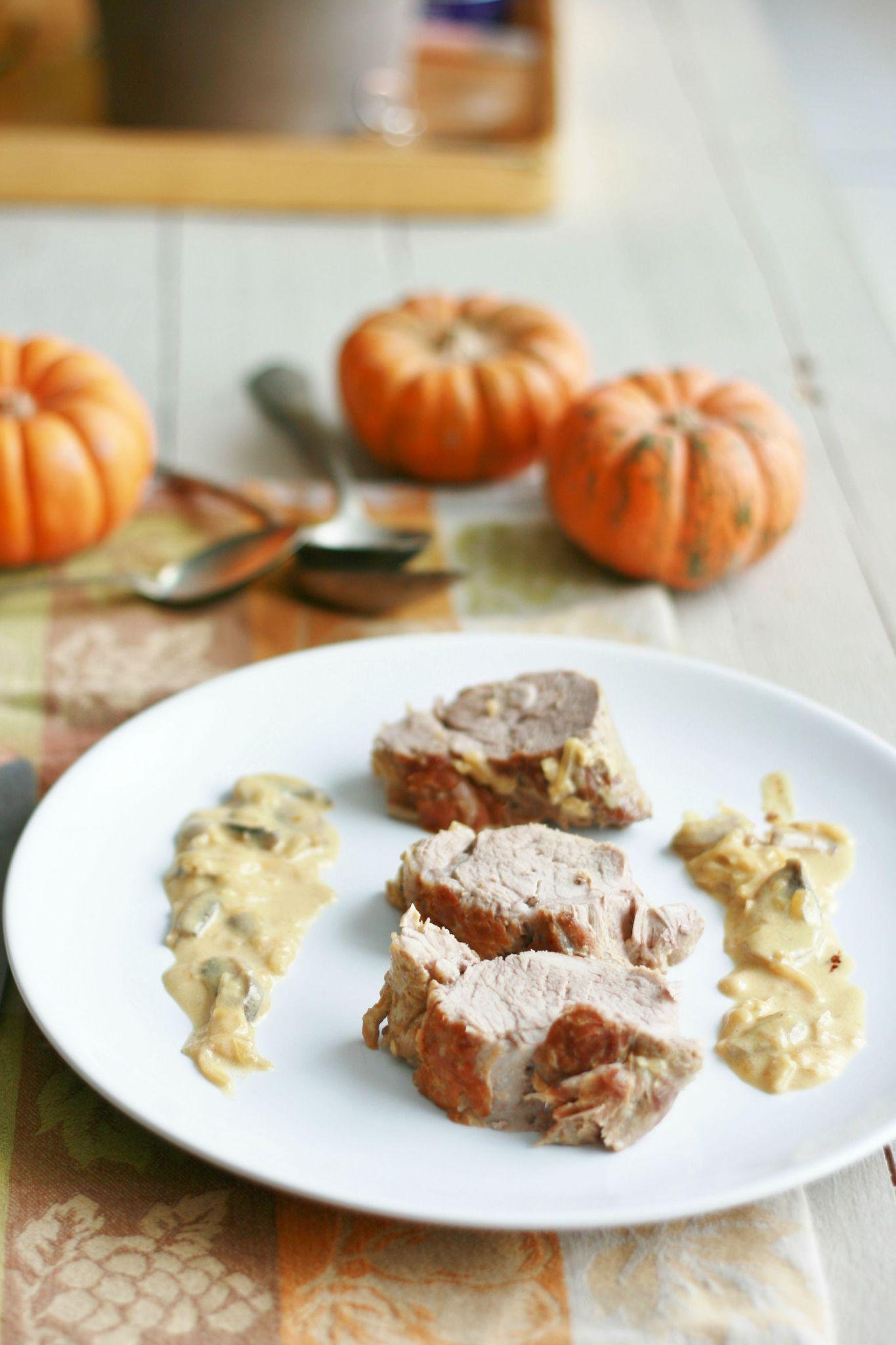 Filet mignon de porc sauce moutarde champignon sans - Comment cuisiner un filet mignon de porc ...