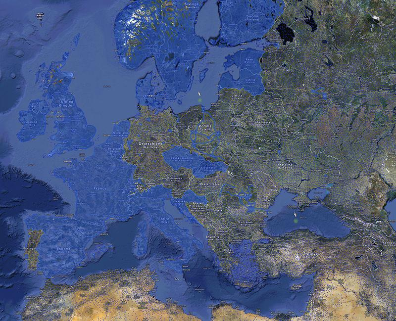 carte d'europe zones couvertes par google street view